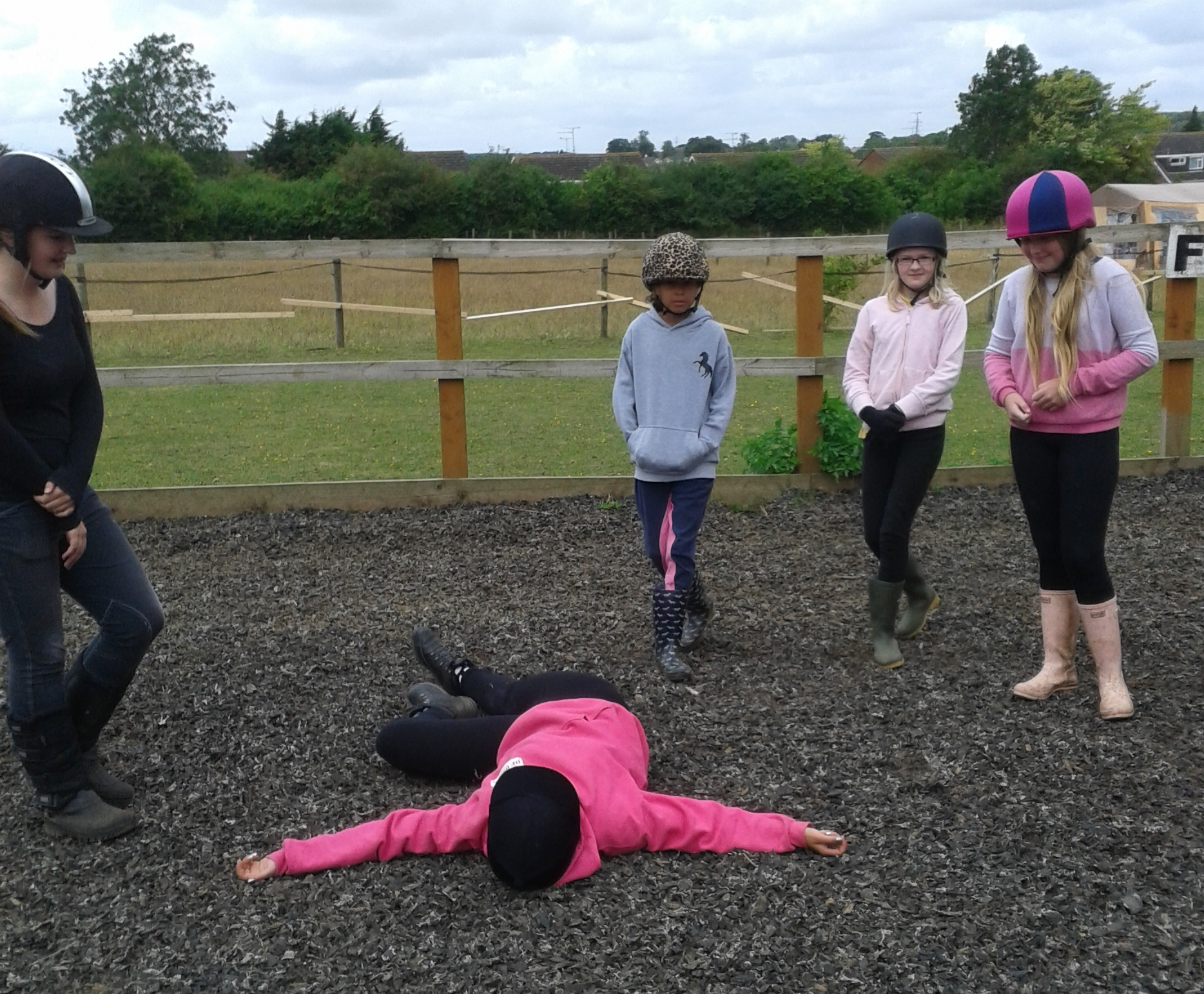First Aid Class: What to do when a Rider falls off.